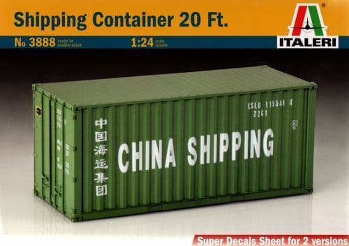 Italeri 1/24 Shipping Container 20 Ft. # 3888