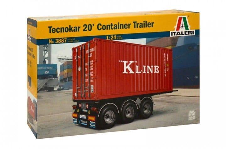 Italeri 1/24 Tecnokar 20' Container Trailer # 3887