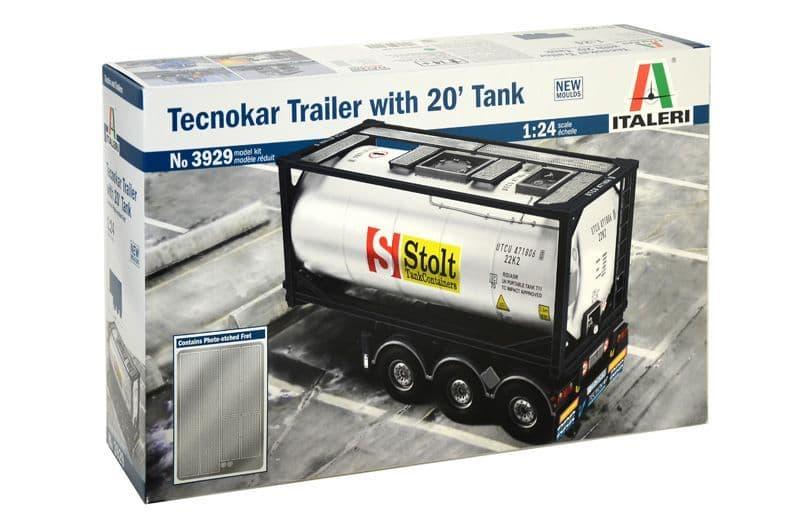 Italeri 1/24 Tecokar Trailer with 20' Tank # 3929