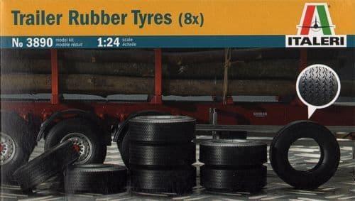 Italeri 1/24 Trailer Rubber Tyres (8x) # 3890