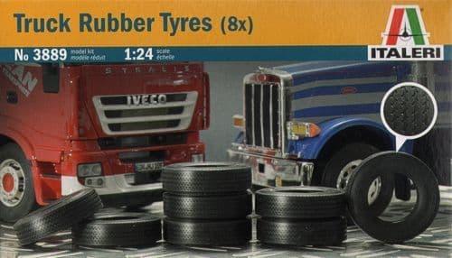 Italeri 1/24 Truck Rubber Tyres (8x) # 3889