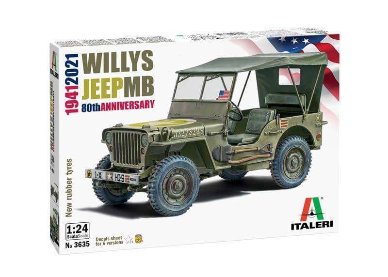 Italeri 1/24 Willys Jeep MB 80th Anniversary 1941-2021 # 3635