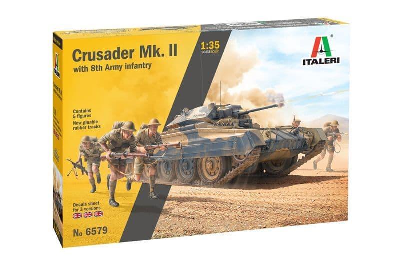 Italeri 1/35 Crusader Mk.II with 8th Army Infantry # 6579