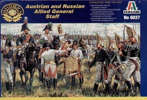 Italeri 1/72 Napoleonic Austrian and Russian Allied General Staf