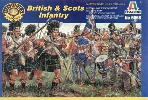 Italeri 1/72 Napoleonic British and Scots Infantry # 6058
