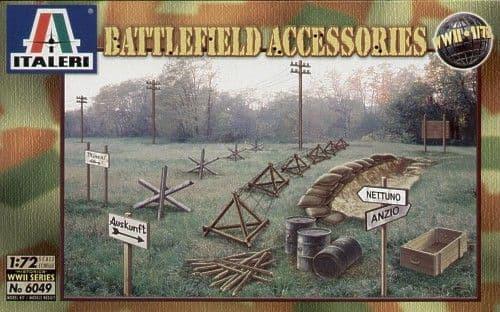 Italeri 1/72 WWII Battlefield Accessories # 6049