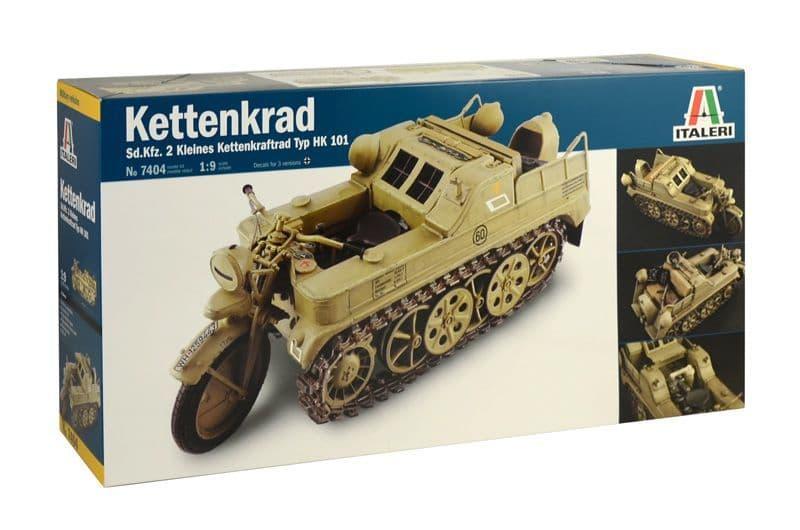Italeri 1/9 Kettenkrad Sd.Kfz. 2 Kleines Kettenkraftrad Typ HK 101 # 7404