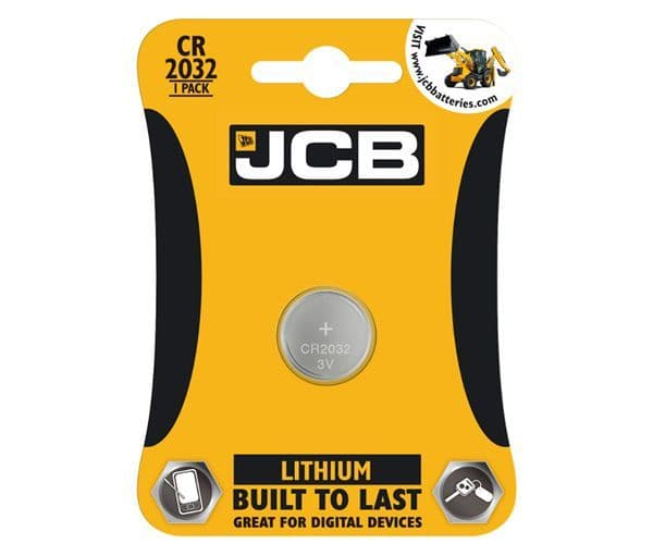 JCB - 1 Pack of Built to Last Lithium CR2032 Battery # 21002