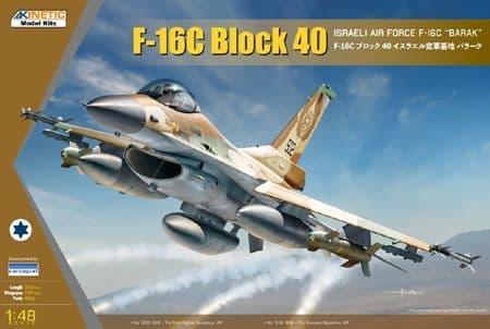 "Kinetic 1/48 Lockheed-Martin F-16C ""Barak"" Block 40 IAF/Israeli Air Force # 48129"