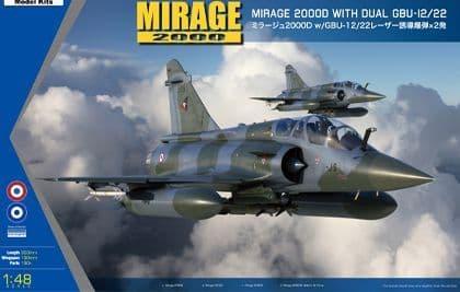 Kinetic Model Kits 1/48 Dassault Mirage 2000D with dual GBU-12/22 # 48120