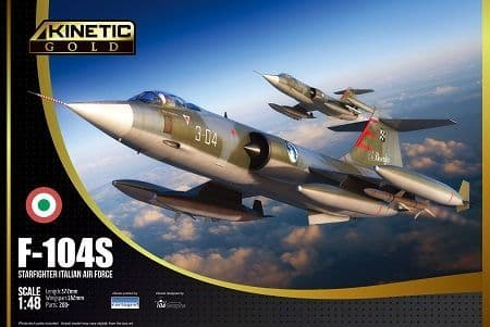 Kinetic Model Kits 1/48 Lockheed F-104S Starfighter Italian Air Force # 48093