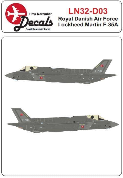 Lima November 1/32 Lockheed-Martin F-35A Royal Danish Air Force # 32-D03
