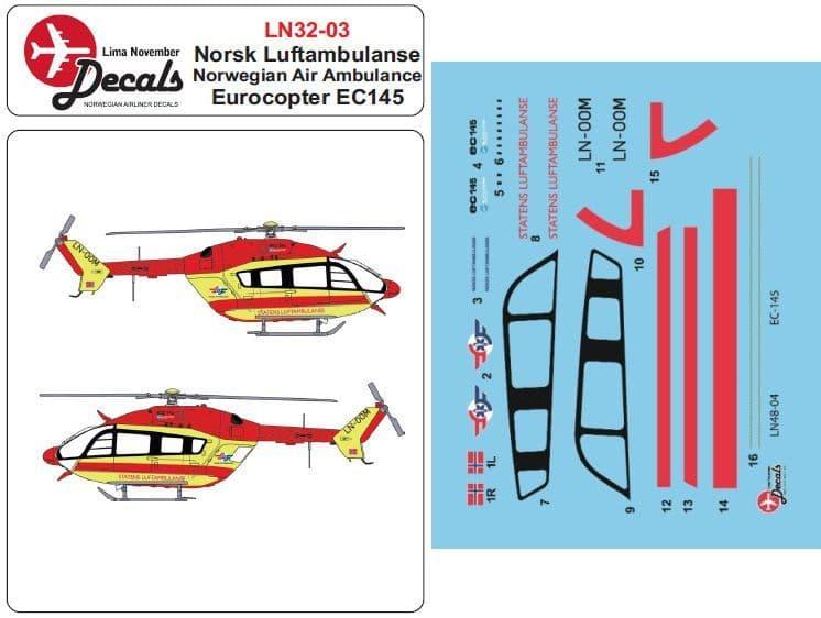 Lima November 1/32 Luftambulansen Eurocopter EC145 # 32003