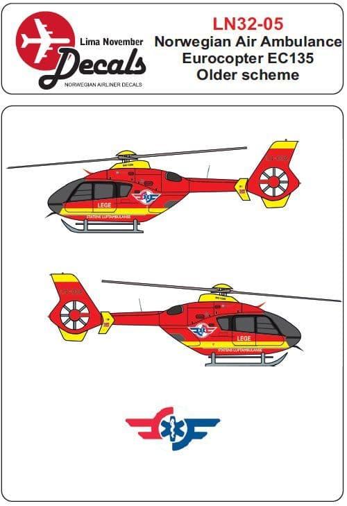 Lima November 1/32 Norwegian Air Ambulance Eurocopter EC135 # 32005