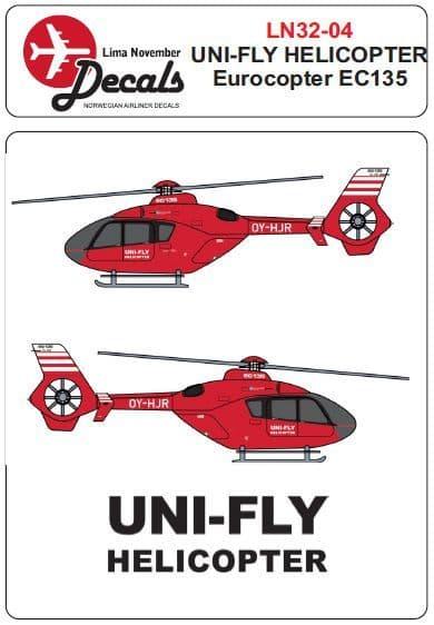 Lima November 1/32 Uni-Fly Eurocopter EC135 OY-HJR # 32004