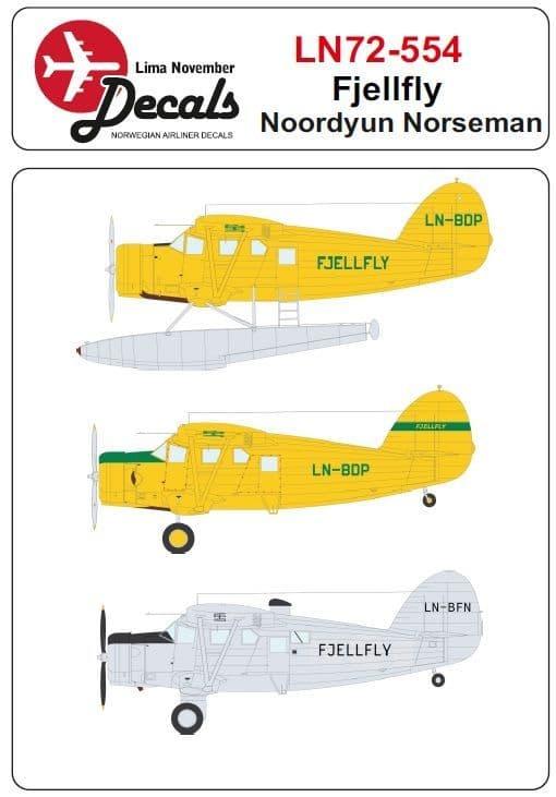 Lima November 1/72 Fjellfly Nordyun Norseman # 72554