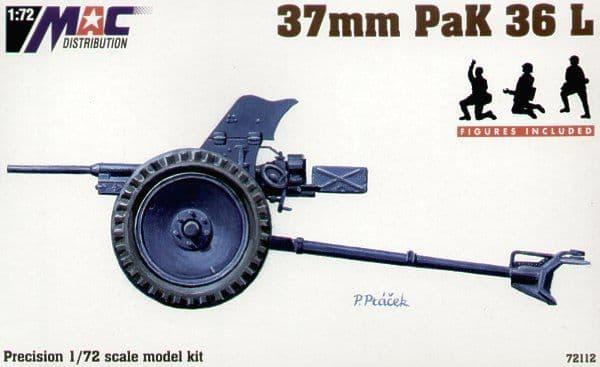 Mac Distribution 1/72 37mm PAK 36L # 72112