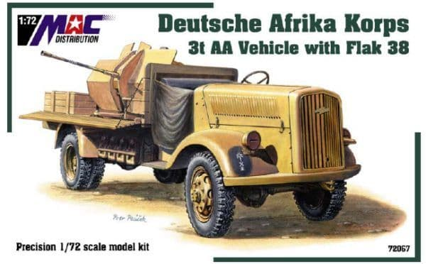Mac Distribution 1/72 3t AA Vehicle with Flak 38 Deutsche Afrika # 72067
