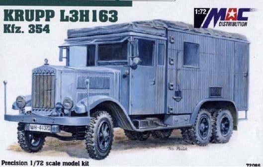 Mac Distribution 1/72 Krupp L3H163 Kfz. 354 # 72086