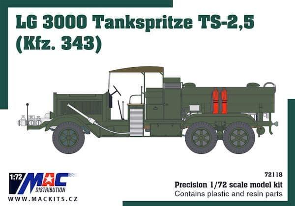 Mac Distribution 1/72 LG 3000 Kfz 343 Tankspritze TS-2,5 # 72118