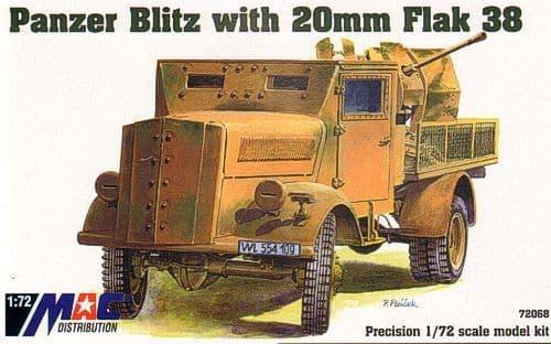 Mac Distribution 1/72 Panzer Blitz with 20mm Flak 38 # 72068