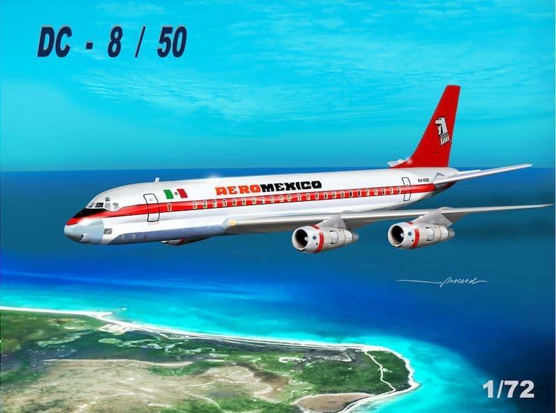 "Mach 2 1/72 Douglas DC-8/50 ""AeroMexico"" # GP110AMX"