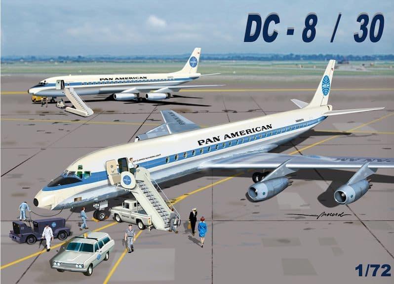 """Mach 2 1/72 Douglas DC-8/50 """"Pan American"""" # GP110PAA"""