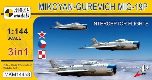 """Mark I Models 1/144 Mikoyan MiG-19P Farmer B """"Interceptor Flights"""" # 14458"""