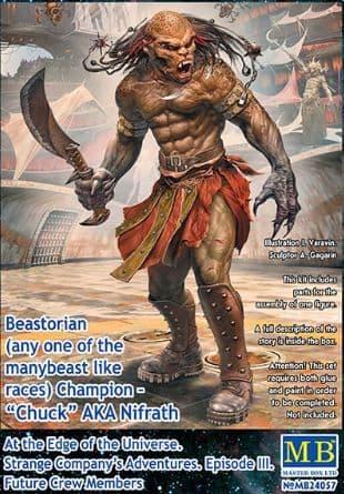 "Master Box 1/24 Beastorian Champion ""Chuck"" AKA Nifrath # 24057"
