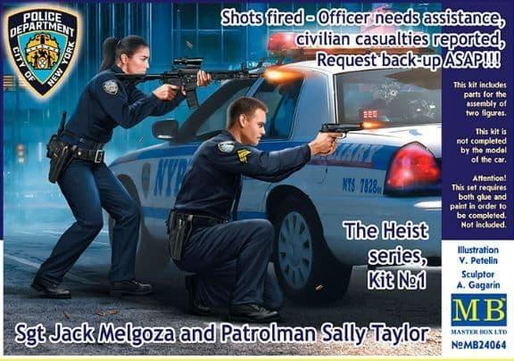 Master Box 1/24 The Heist Series, Kit No.1 Sgt Jack Melgoza and Patrolman Sally Taylor # 24064