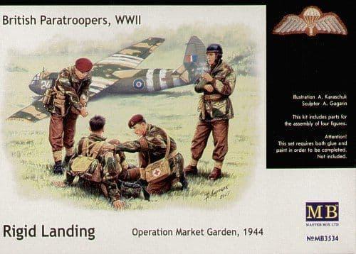 Master Box 1/35 British Paratroopers WWII Rigid Landing # 3534