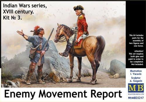 Master Box 1/35 Enemy Movement Report. Indian Wars Series, XVIIIc No. 3 # 35217