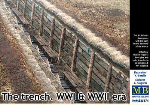 Master Box 1/35 The Trench WWI & WWII Era # 35174