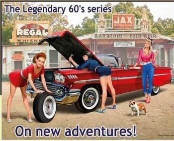 Masterbox 1/24 Pin-up - Legendary 60's, On new Adventures! # 24082
