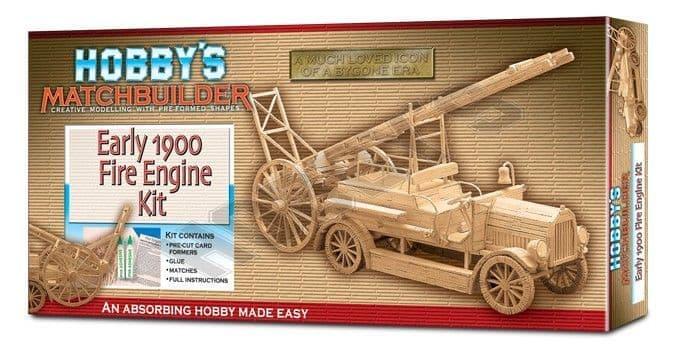 Matchbuilder - Early 1900 Fire Engine Matchstick Kit # 6102
