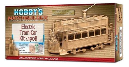 Matchbuilder - Electric Tram Car c.1908 Matchstick Kit # 6101