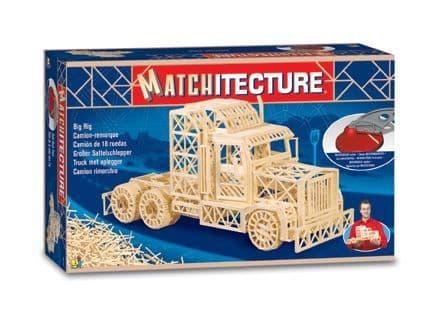 Matchitecture - Big Rig Trailer Truck Matchstick Kit # 6622