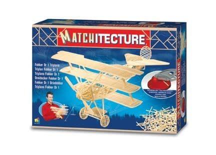 Matchitecture - Fokker Dr.1 Triplane Matchstick Kit # 6610