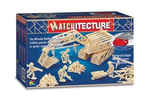 Matchitecture - Mechanical Digger Matchstick Kit # 6641
