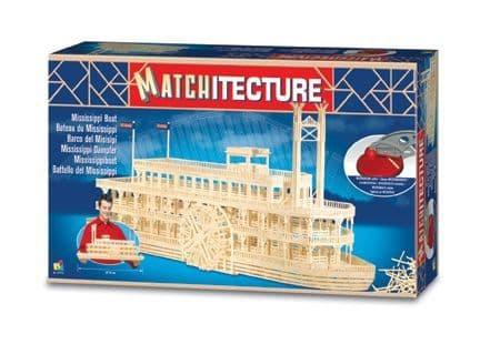 Matchitecture - Mississippi Boat Matchstick Kit # 6630