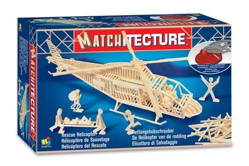Matchitecture - Rescue Helicopter Matchstick Kit # 6646