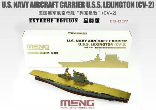 Meng 1/700 U.S. Navy Aircraft Carrier U.S.S. Lexington (CV-2) Extreme Edition # ES-007