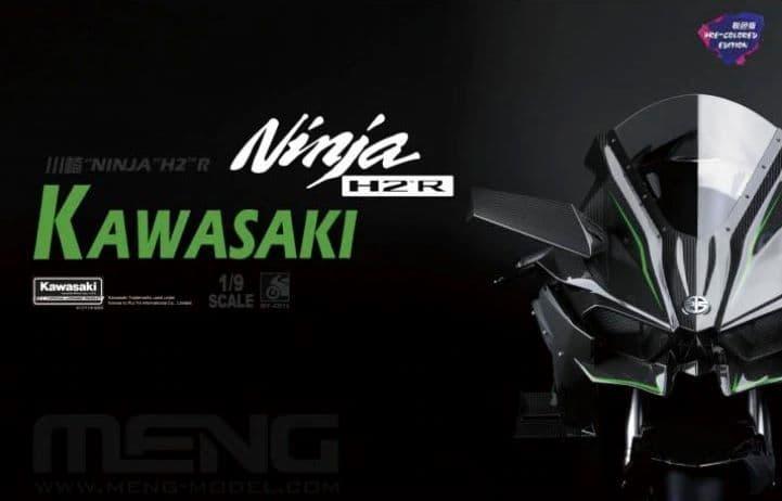 """Meng 1/9 Kawasaki """"Ninja"""" H2 R (Pre-Coloured Edition) Snap-Together # MTS-001S"""