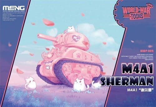 Meng - M4A1 Sherman Tank Pinky World War Toon # WWP-002