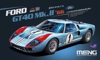 Meng Model 1/12 - Ford GT 40 Mk II 1966 (Pre-Coloured) # RS-001