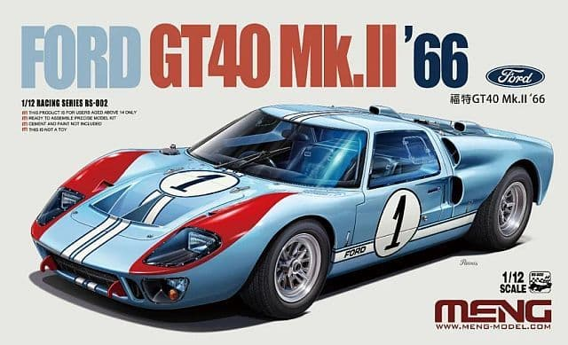 Meng Model 1/12 - Ford GT 40 Mk II 1966 # RS-002