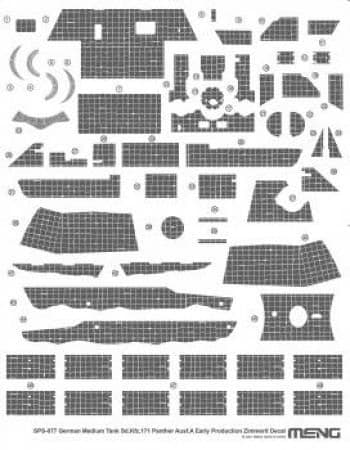 Meng Model 1/35 - Sd.Kfz.171 Panther Ausf A Early Decals # SPS-077