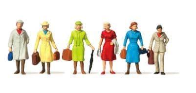 Merten HO Scale Female Passengers (6) # 2546