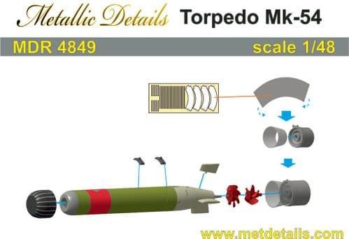 Metallic Details 1/48 Torpedo Mk.54 (2) # MDR4849