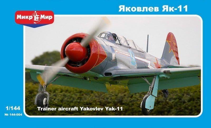 Micro-Mir 1/144 Yakovlev Yak-11 Soviet Training Aircraft # 144-004